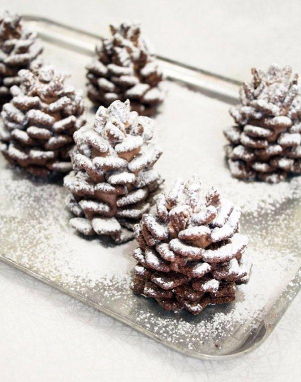 Edible Chocolate Pinecones