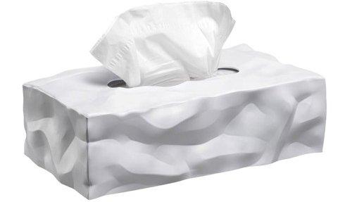 Tissue Box Long, White