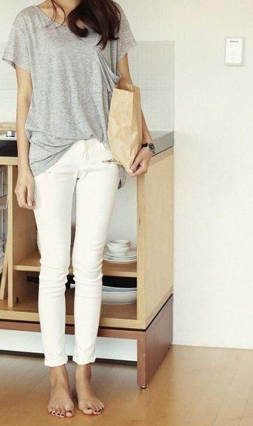 white,clothing,sleeve,jeans,footwear,
