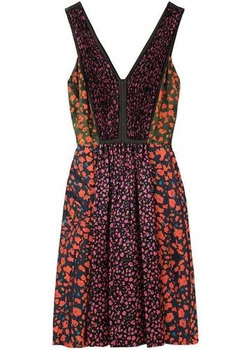 Cacharel Patchwork Floral Dress