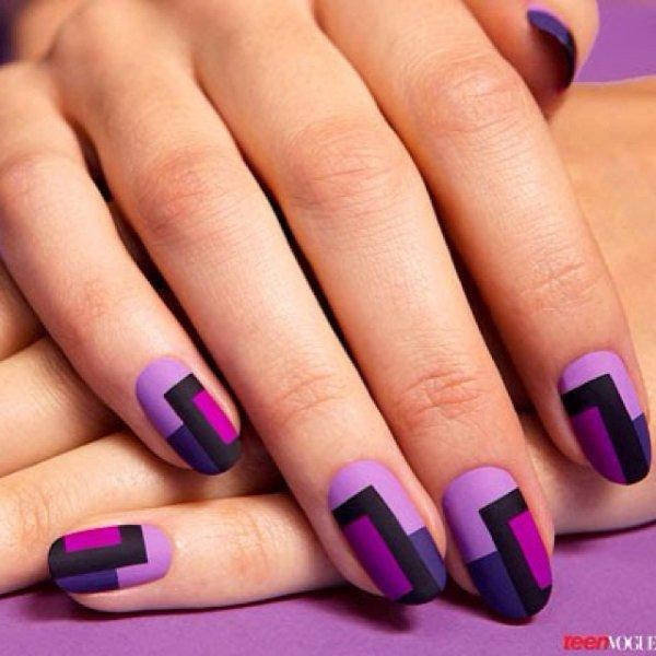 nail, purple, manicure, lilac, violet,
