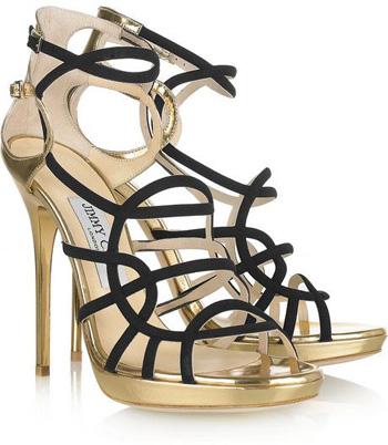 'Bunting' Metallic Sandals