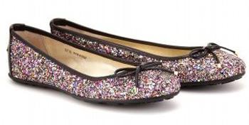 'Walsh' Glitter Fabric Ballerina Flats