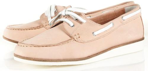 Topshop Kapsize Moccasin Boat Shoes