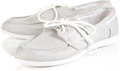 Topshop Trapeze Canvas Boat Shoes