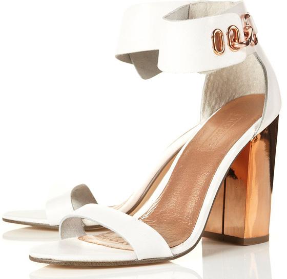 Topshop Metallic Heel Sandals