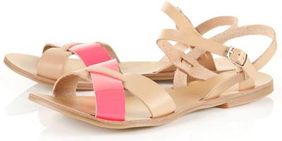 Topshop Hunt Crossover Fluro Sandals