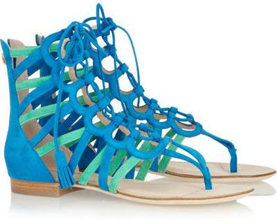 Emilio Pucci Two-Tone Gladiator Sandals