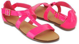 Crossed Strap Sandals