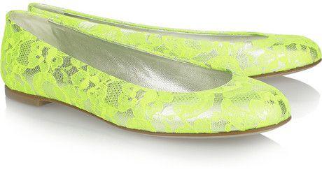 Giuseppe Zanotti Lace Neon Shoes