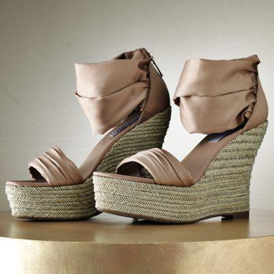 Jennifer Lopez Platform Wedge Sandals