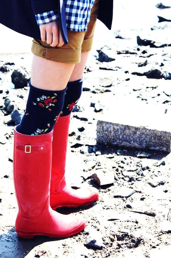 High Socks and Short Hemlines