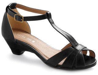 Low T-strap Heels