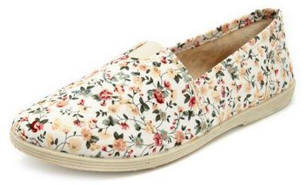 Slip-on Wrap Floral Flat