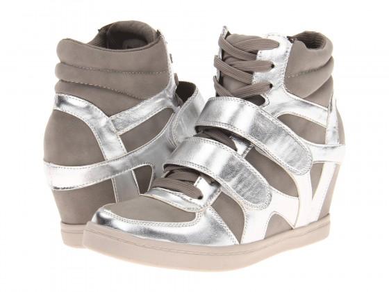 Metallic Sneaker Wedges
