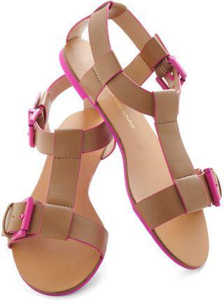 Tan Contrast Sandals