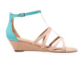 Neon Strap Wedge Sandals