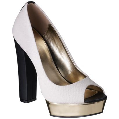 Women's Mossimo Pearlynn Chunky Peep Toe Heels