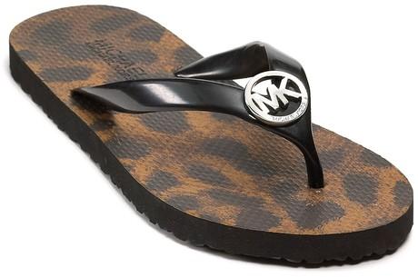 Black Michael Kors Flip Flops