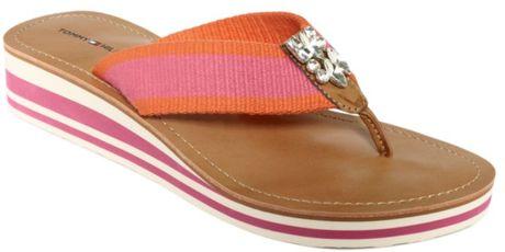 Tommy Hilfiger Roxanne Wedge Thong Sandals