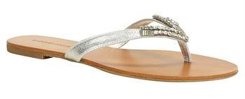 Badgley Mischka Alee Evening Thong Sandals