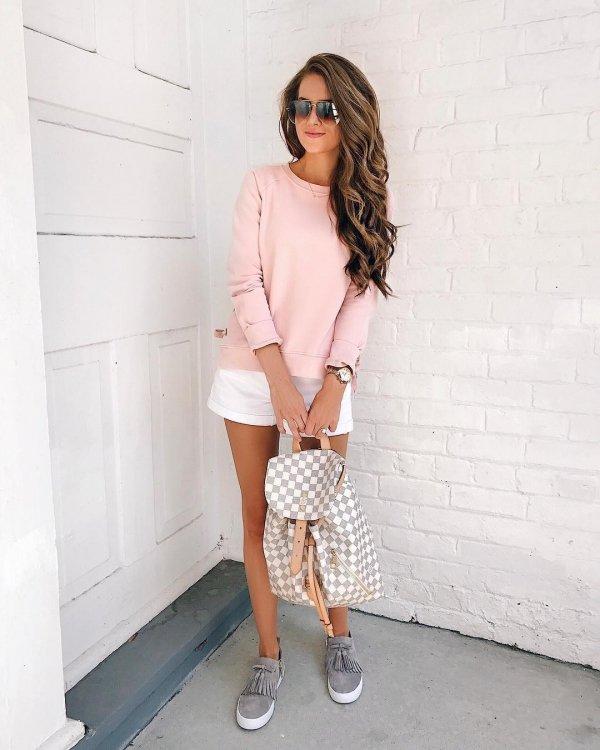 clothing, white, pink, footwear, fashion model,