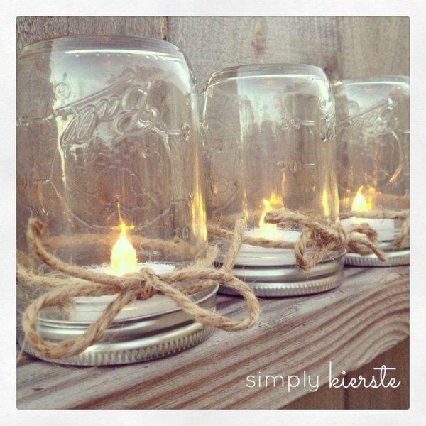 Mason Jar Party Decor Candles