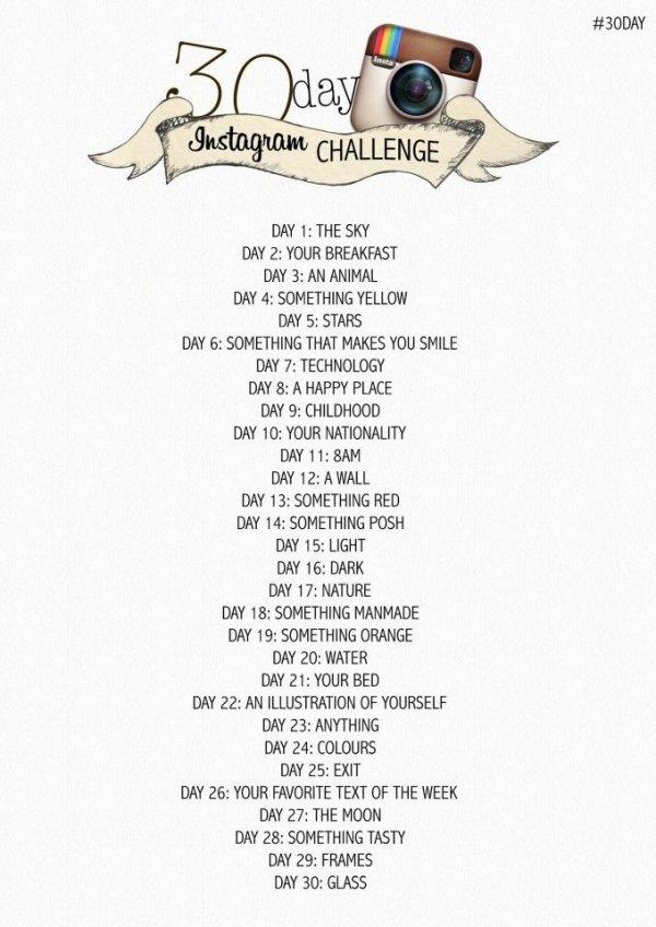 30 Day Instagram Challenge