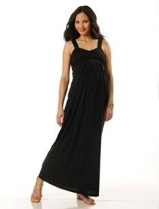 Loved by Heidi Klum Sleeveless Ruched Maternity Maxi Dress
