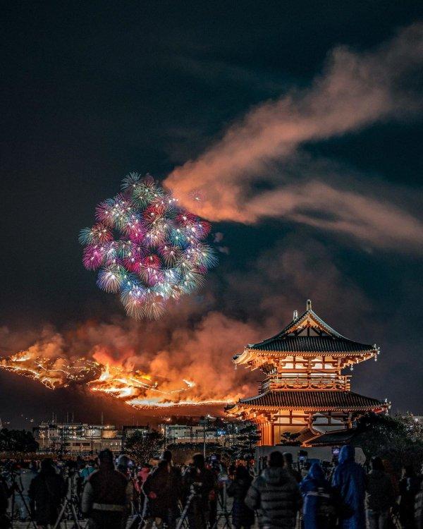 Sky, Cloud, Night, Fireworks, Architecture,