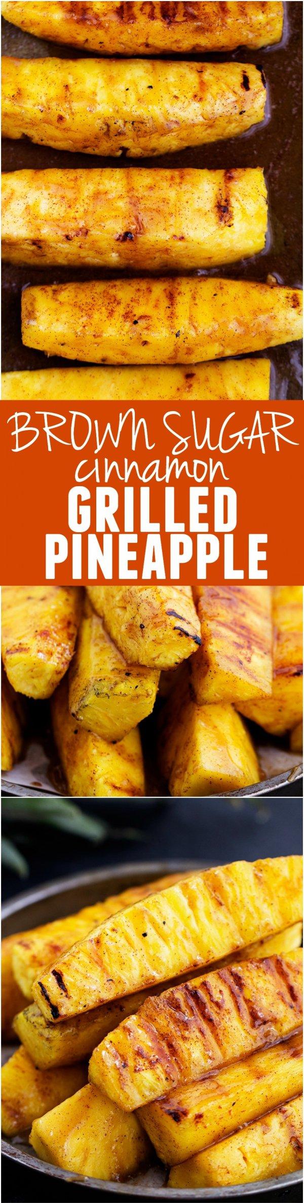 Brown Sugar Cinnamon Grilled Pineapple