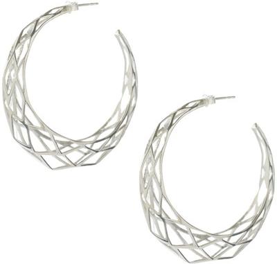 Zoe & Morgan Sterling Silver Facet Hoop Earrings