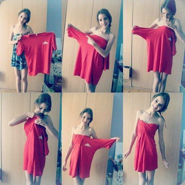 From Boyfriend's Overzied Tee to Cute Dress