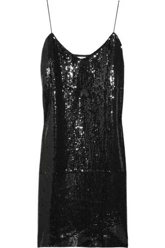 Tibi Sequined Slip Dress
