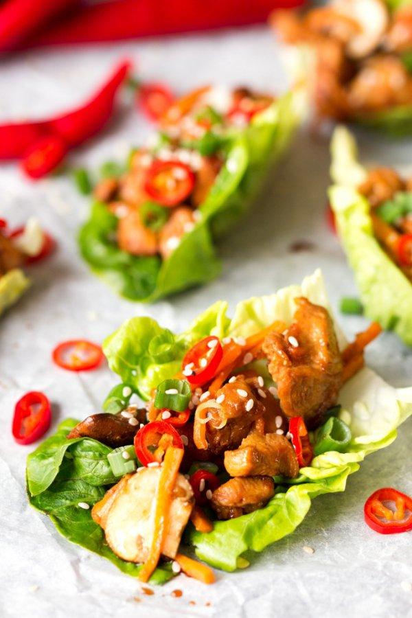 A FEW HEALTHY DINNERS like LETTUCE WRAPS
