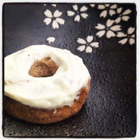 Gingerbread Mini Donuts with Orange Cream Cheese