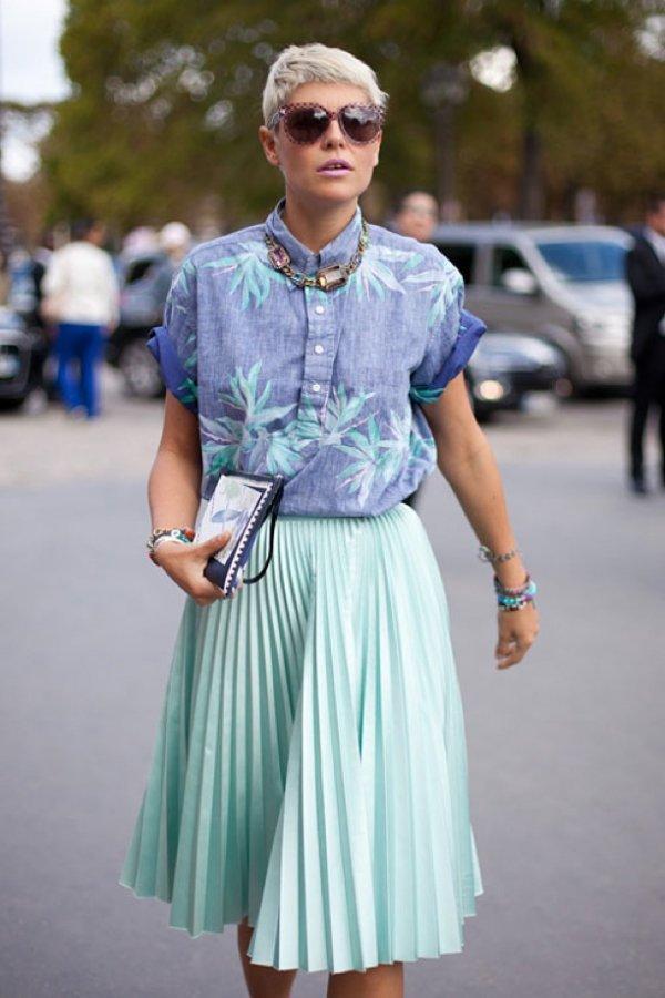 Pleated Midi Skirts