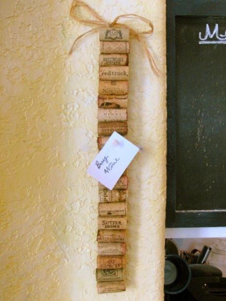 Wine Cork Memo Strip