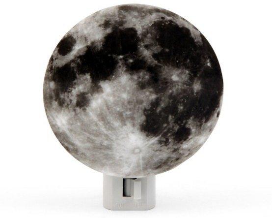 Moon, Earth and Galaxy Night Lights