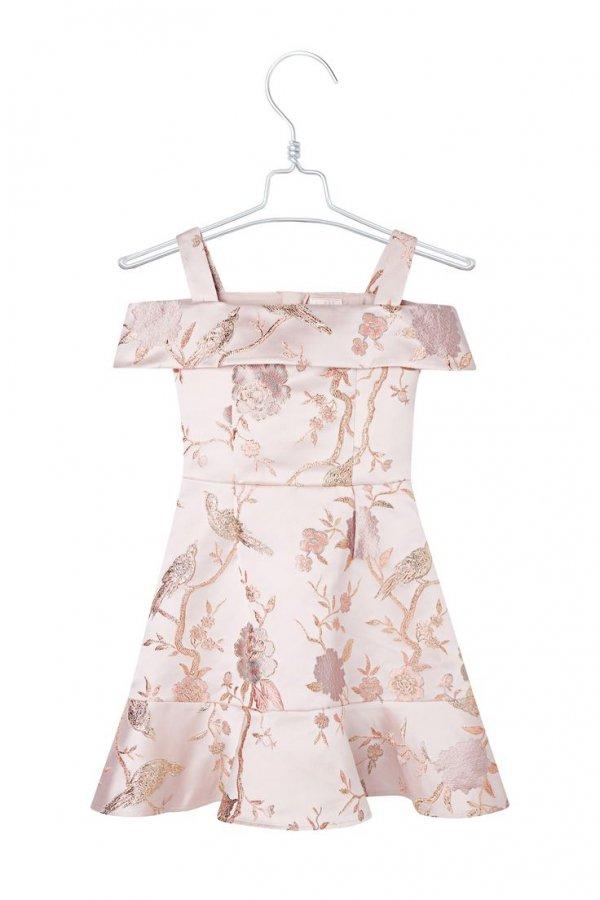 Clothing, Dress, White, Day dress, Pink,