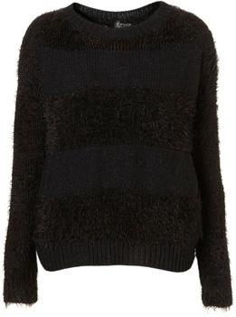 Topshop Knitted Fluffy Stripe Jumper