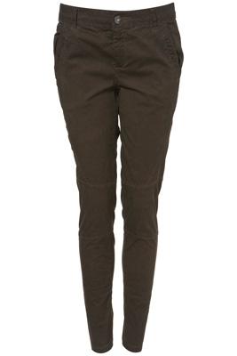 Topshop Khaki Skinny Trousers