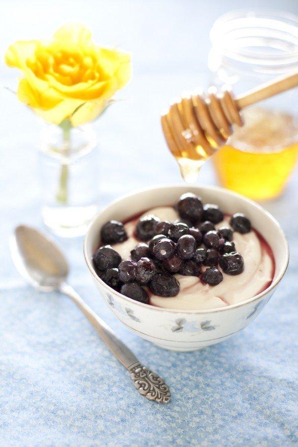 Greek Yogurt + Blueberries