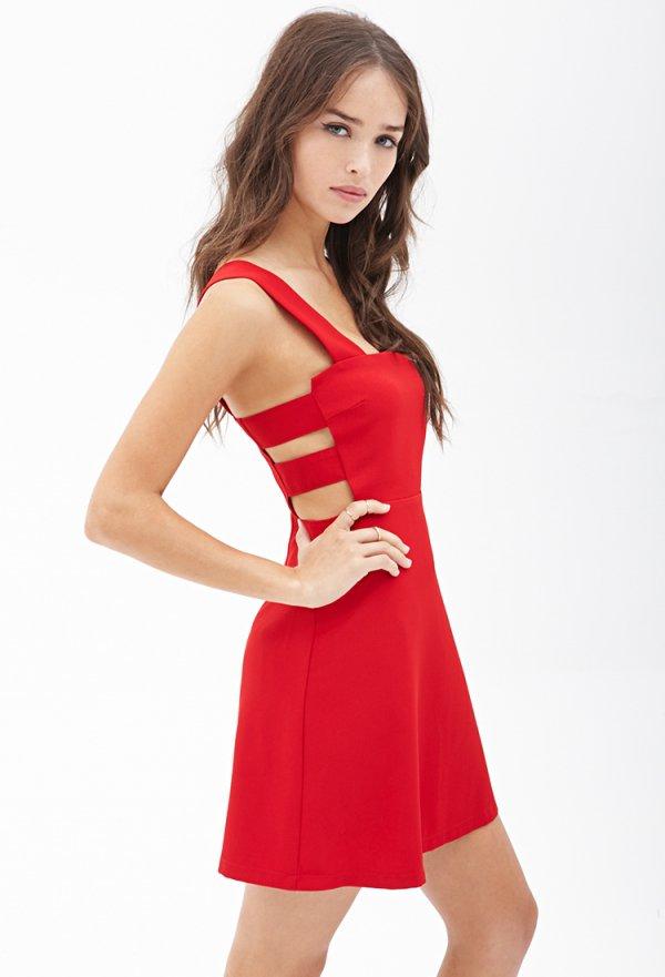 Forever 21 Square Neck Cutout Dress