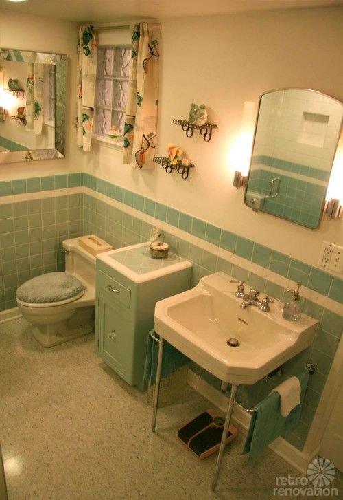 Vintage Blue Bathroom