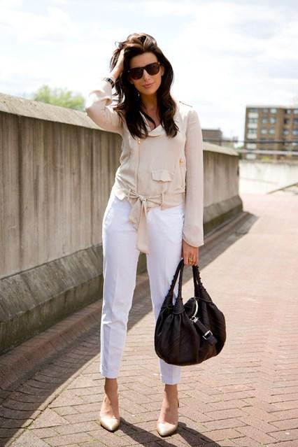 9 Fab Street Style Ways to Wear White Pants ... Streetstyle