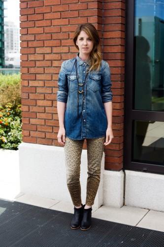 Leopard Print Jeans