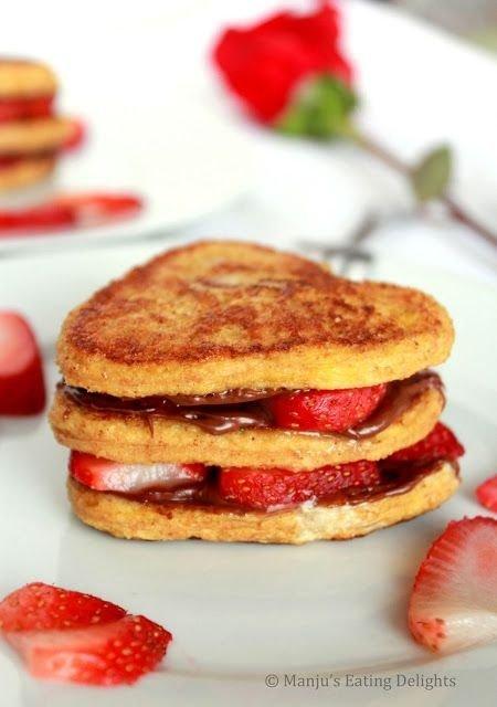 Strawberry Nutella French Toast Sandwich