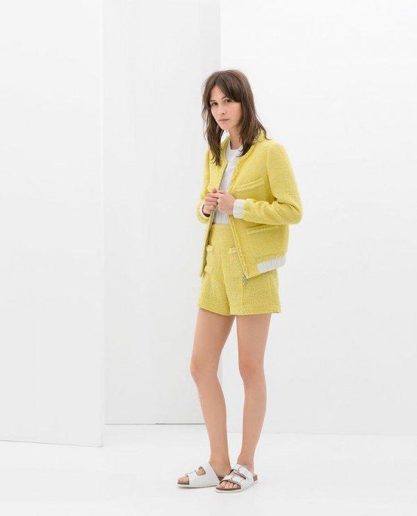 Zara Cardigan and Bermuda Shorts