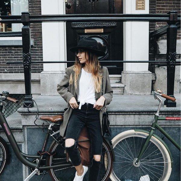 black, bicycle, vehicle, lady, fashion,